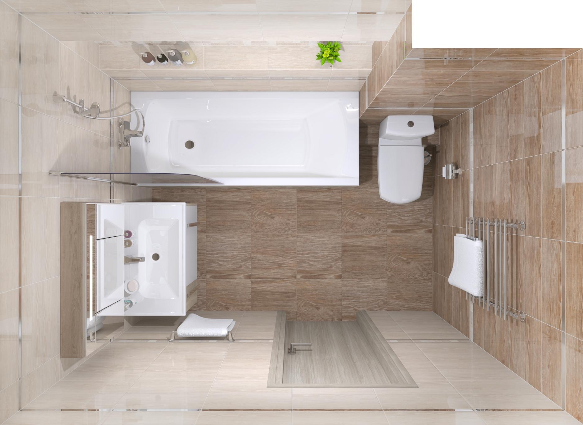 Раскладка плитки в ванной и туалете